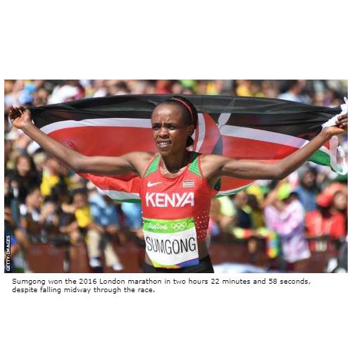 Four-year doping ban for Kenyan Olympic marathon champion