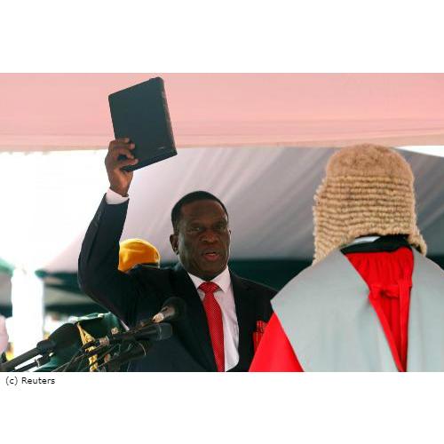 Zimbabwe: Mnangagwa sworn in as president after Robert Mugabe resigns