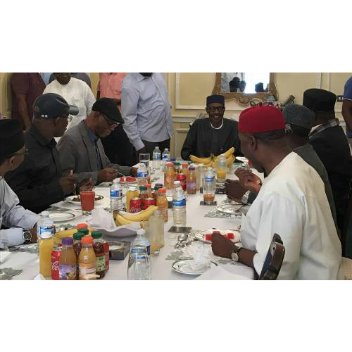 APC Governors met with ailing President Buhari in London