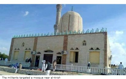 Egypt: At least 155 killed in Sinai mosque attack