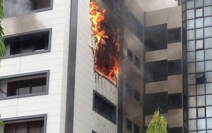 Office of the Accountant General of the Federation in Abuja on fire